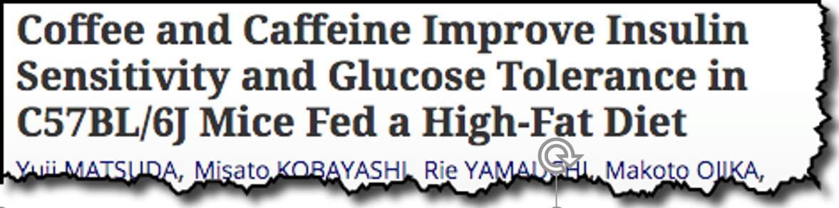 Coffee and Caffeine Improve Insulin Sensitivity and Glucose Tolerance in C57BL/6J Mice Fed a High-Fat Diet