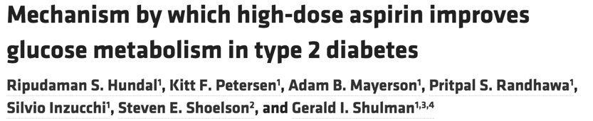 aspirin fixes type 2 diabetes