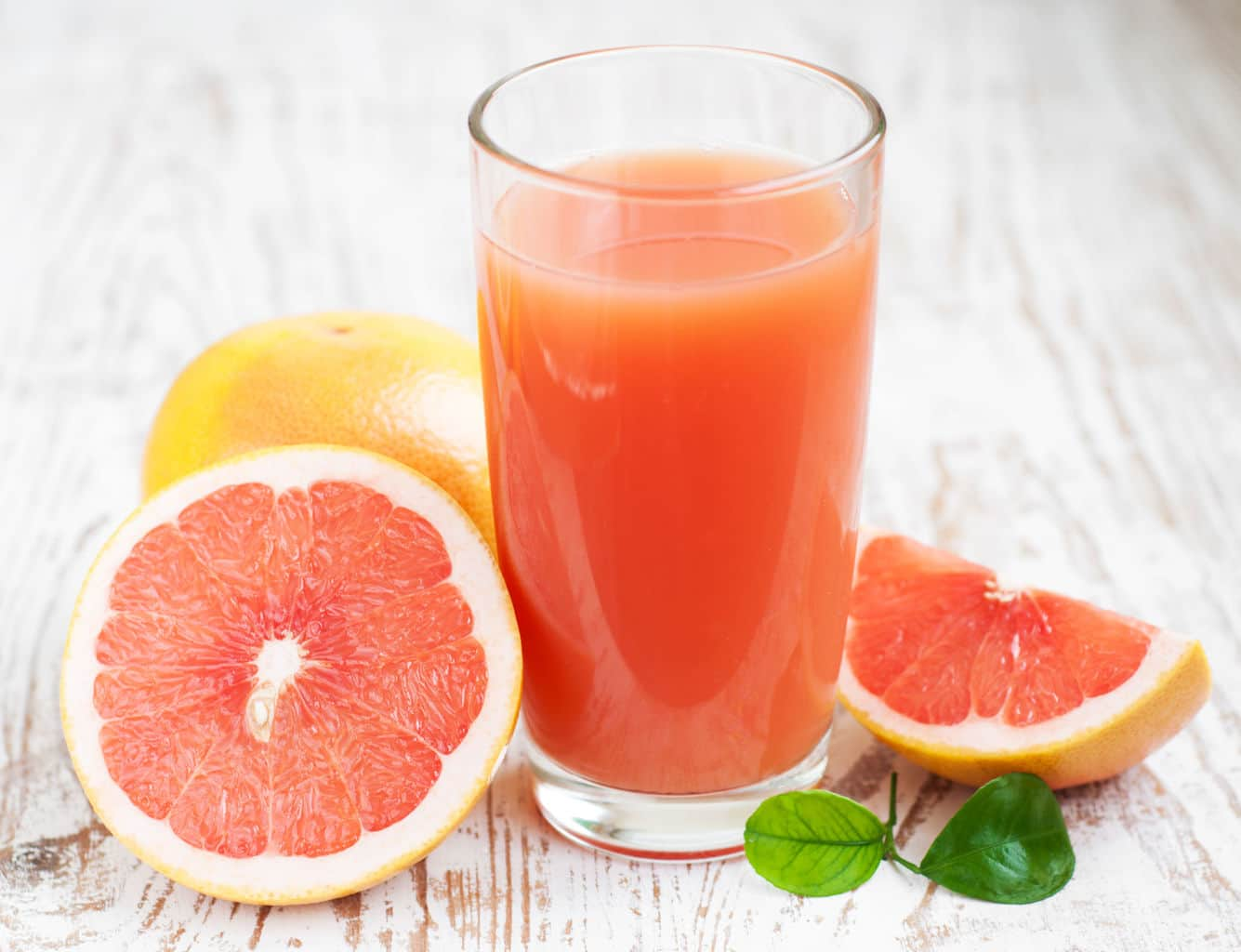 Grapefruit juice increases estrogen?