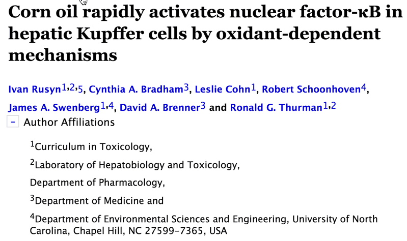 Corn oil rapidly activates nuclear factor-κB in hepatic Kupffer cells by oxidant-dependent mechanisms