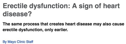 Erectile dysfunction: A sign of heart disease?