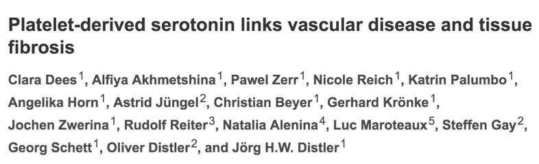 Platelet-derived serotonin links vascular disease and tissue fibrosis