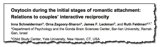 Oxytocin during the initial stages of romantic attachment: relations to couples' interactive reciprocity