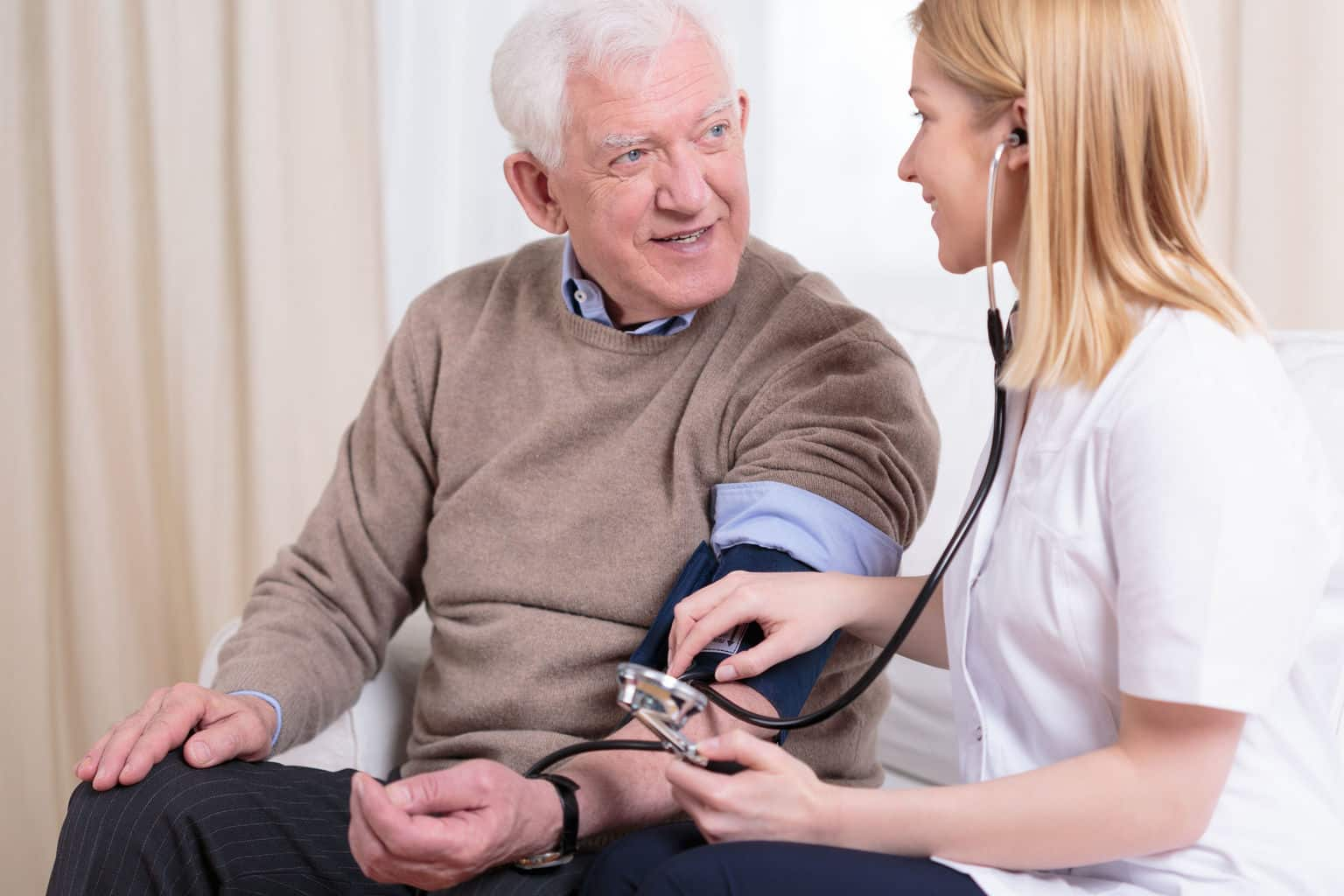 Aging men live longer with high blood pressure