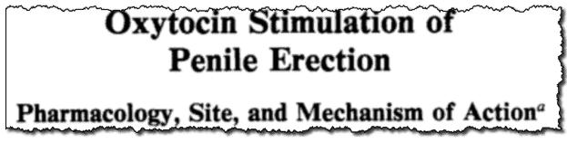 Oxytocin Stimulation of Penile Erection