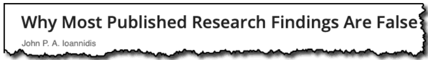 Why most published research findings are false