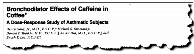 Bronchodilator effects of caffeine in coffee: a dose-response study of asthmatic subjects.
