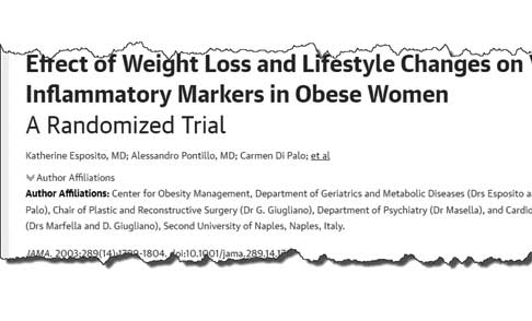 Effect of weight loss and lifestyle changes on inflammatory markers in obese women, a randomized trial