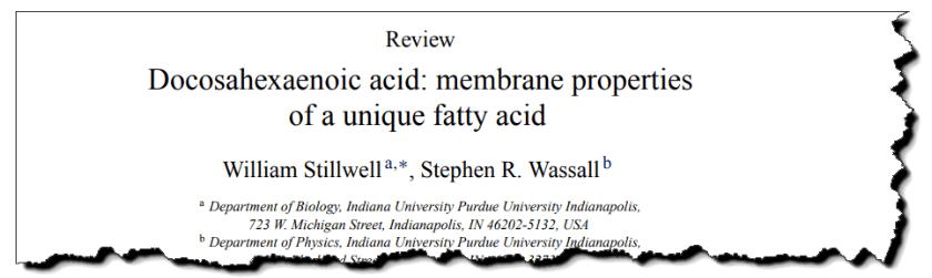 Docosahexaenoic acid: membrane properties of a unique fatty acid.