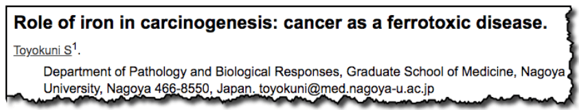 Role of iron in carcinogenesis: cancer as a ferrotoxic disease.