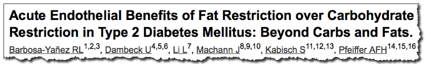 Acute Endothelial Benefits of Fat Restriction over Carbohydrate Restriction in Type 2 Diabetes Mellitus: Beyond Carbs and Fats.