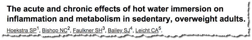 The acute and chronic effects of hot water immersion on inflammation and metabolism in sedentary, overweight adults