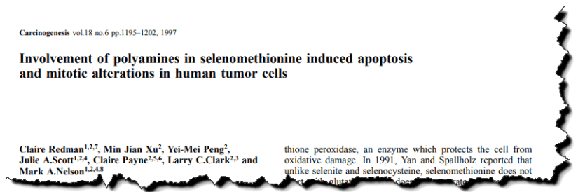 Involvement of polyamines in selenomethionine induced apoptosis and mitotic alterations in human tumor cells.
