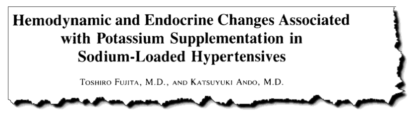 Hemodynamic and endocrine changes associated with potassium supplementation in sodium-loaded hypertensives.