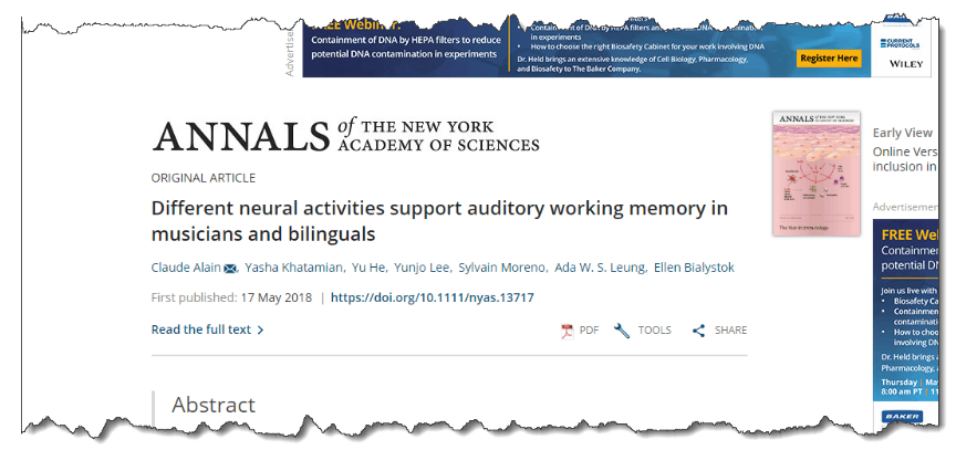 Different neural activities support auditory working memory in musicians and bilinguals