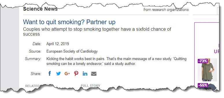 Want to quit smoking? Partner up