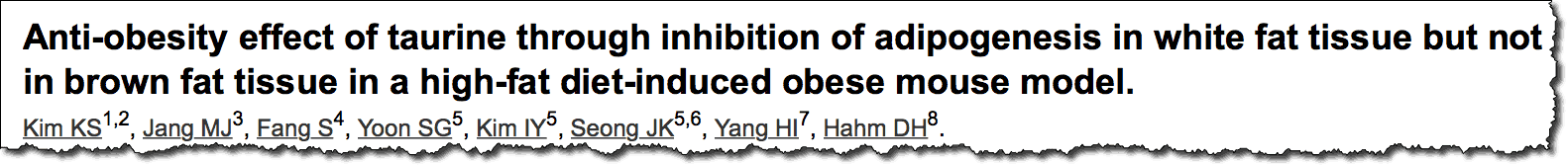 Anti-obesity effect of taurine