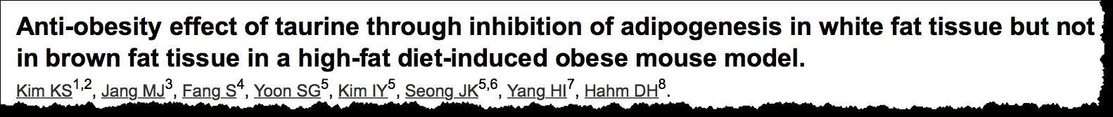 Anti-obesity effect of taurine