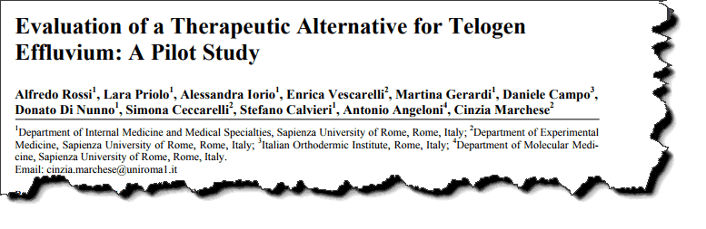 Evaluation of a Therapeutic Alternative for Telogen Effluvium: A Pilot Study