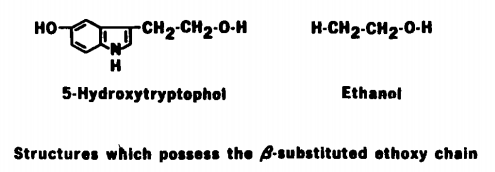 Structures which possess the B-substituted ethoxy chain