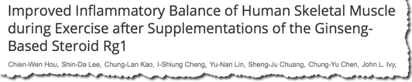 Improved Inflammatory Balance of Human Skeletal Muscle during Exercise after Supplementations of the Ginseng-Based Steroid Rg1