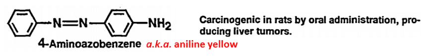 Carcinogenic in rats by oral administration, producing liver tumors