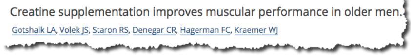 Creatine supplementation improves muscular performance in older men